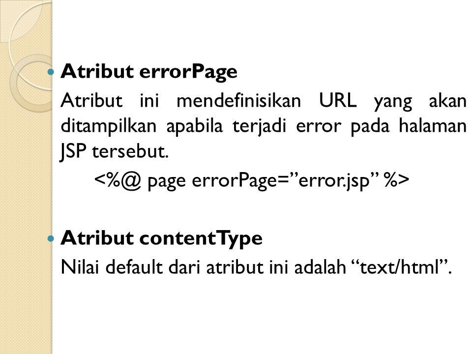 <%@ page errorPage= error.jsp %>