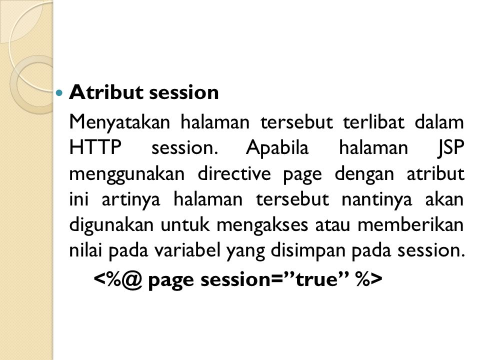 <%@ page session= true %>