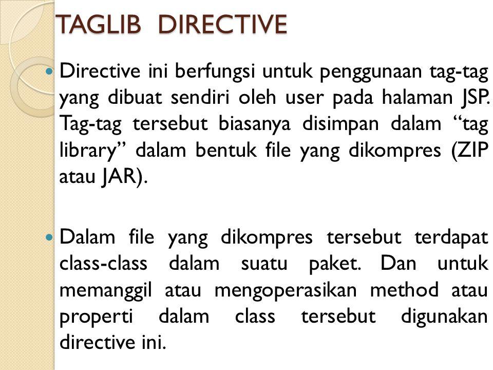 TAGLIB DIRECTIVE