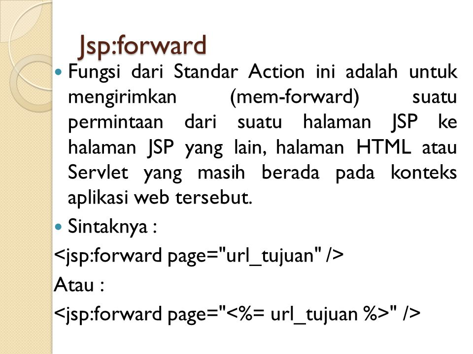 Jsp:forward