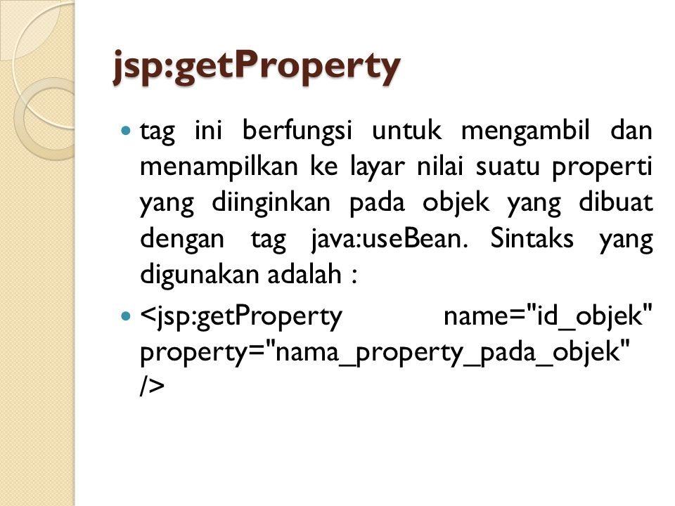 jsp:getProperty
