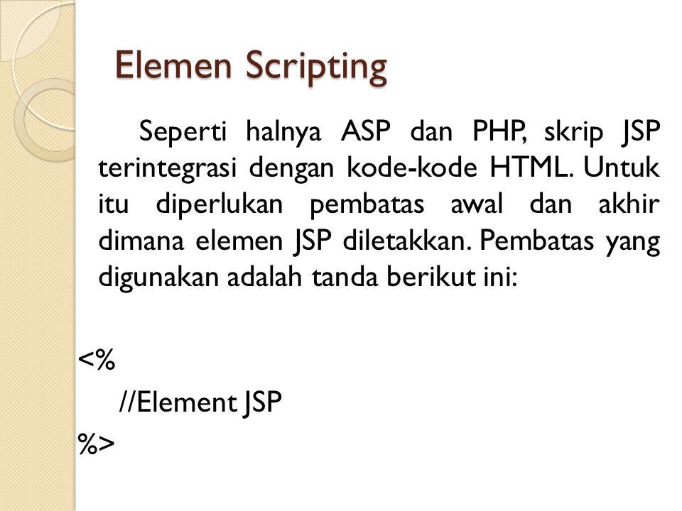Elemen Scripting