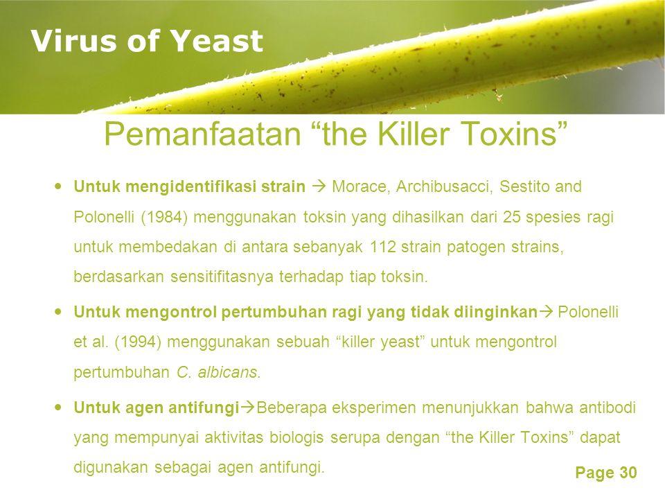 Pemanfaatan the Killer Toxins