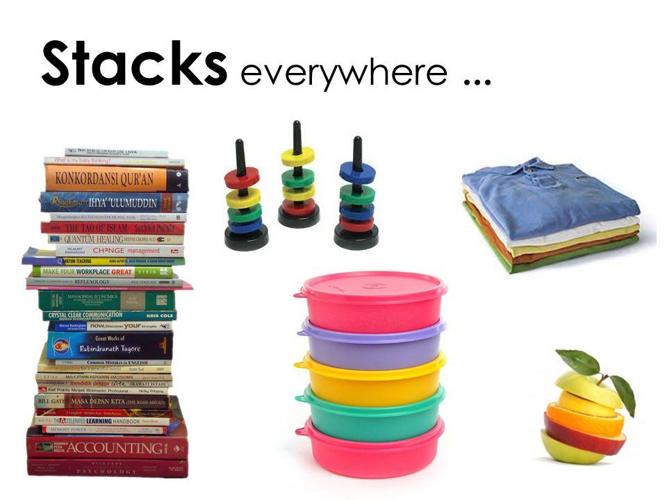 Stacks everywhere ...