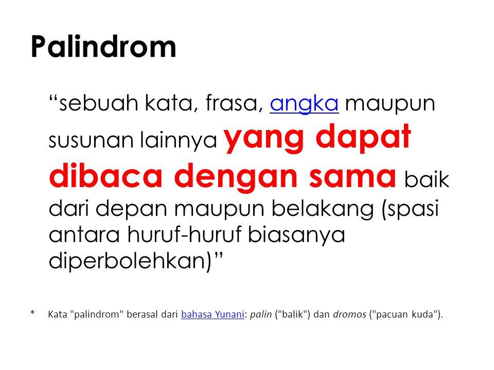 Palindrom