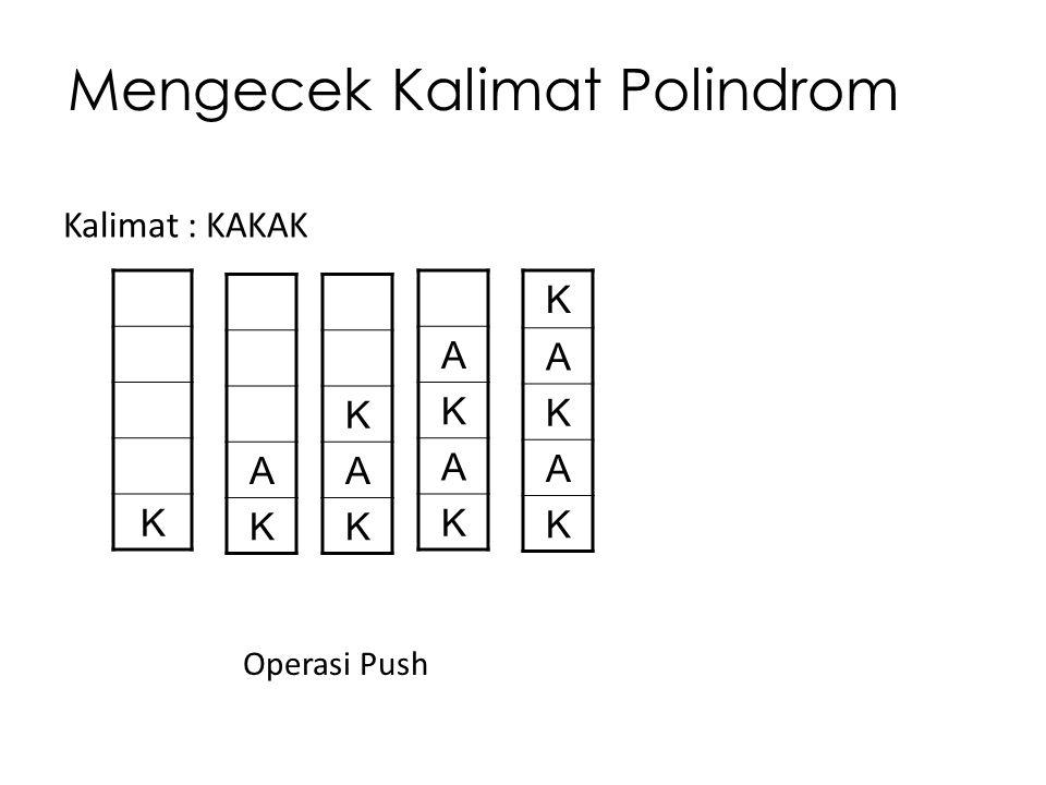Mengecek Kalimat Polindrom