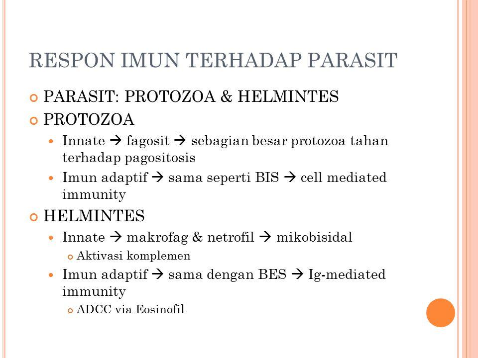 RESPON IMUN TERHADAP PARASIT