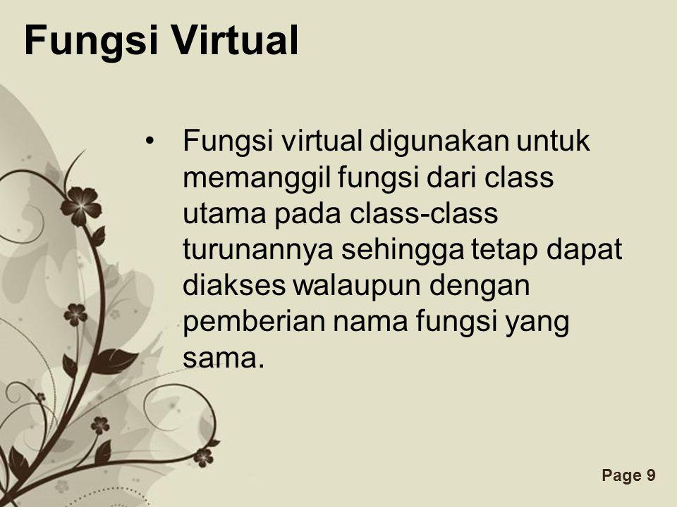 Fungsi Virtual
