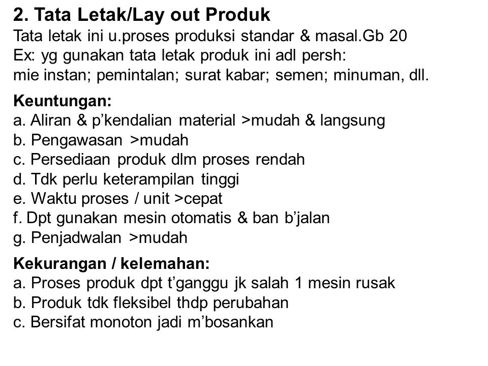 2. Tata Letak/Lay out Produk
