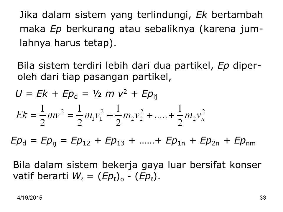 Epd = Epij = Ep12 + Ep13 + ……+ Ep1n + Ep2n + Epnm