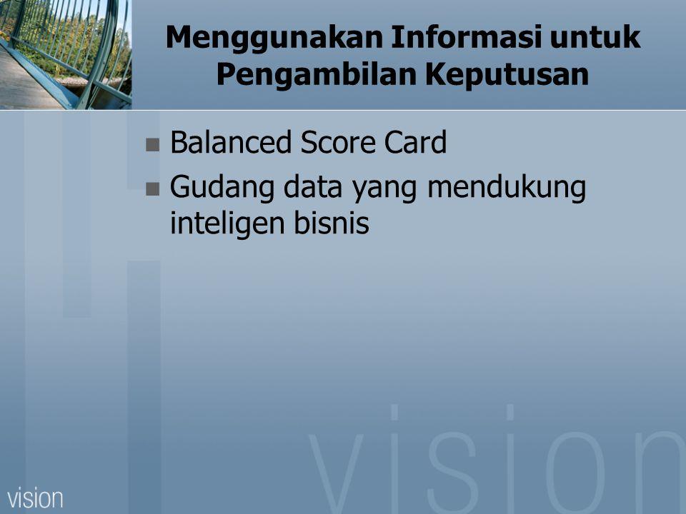 Menggunakan Informasi untuk Pengambilan Keputusan
