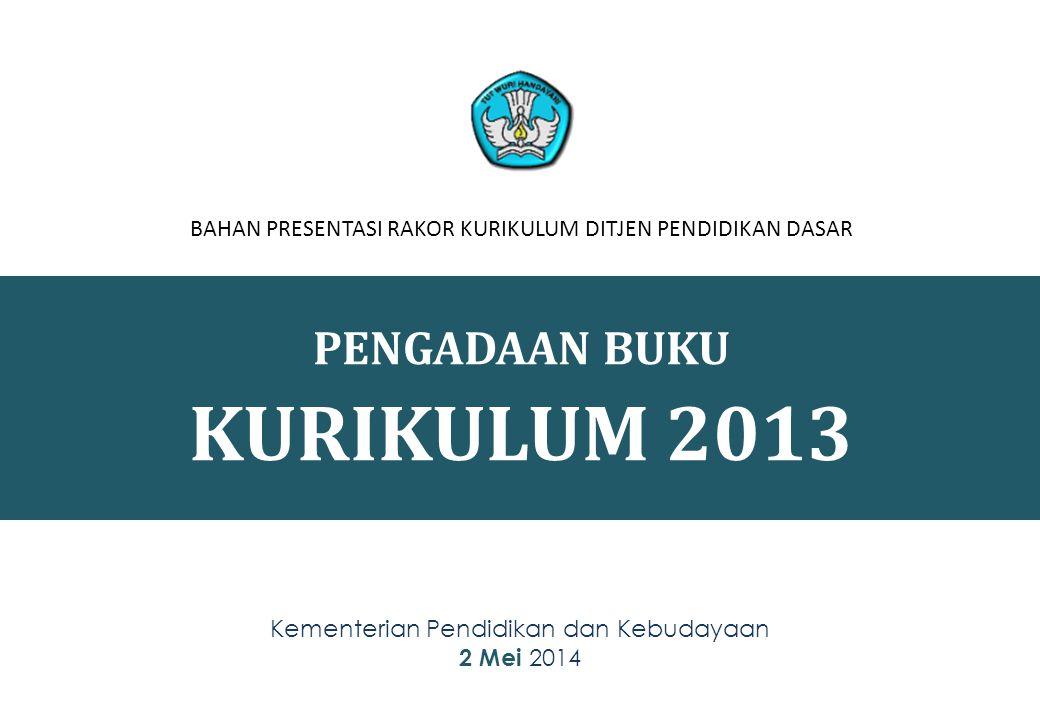 KURIKULUM 2013 PENGADAAN BUKU