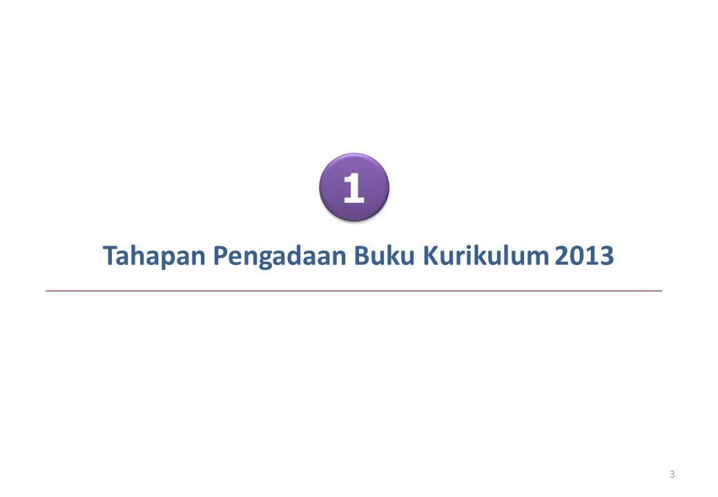 Tahapan Pengadaan Buku Kurikulum 2013
