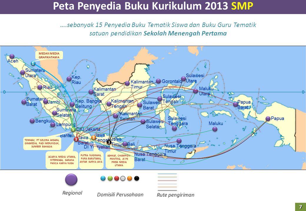 Peta Penyedia Buku Kurikulum 2013 SMP