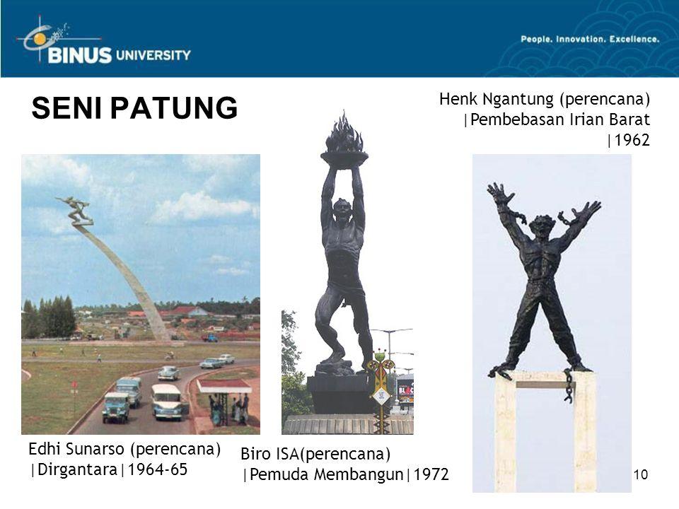 SENI PATUNG Henk Ngantung (perencana) |Pembebasan Irian Barat |1962