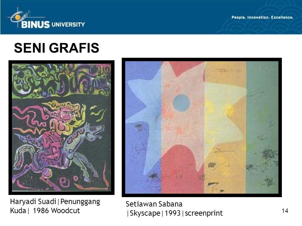 SENI GRAFIS Haryadi Suadi|Penunggang Kuda| 1986 Woodcut
