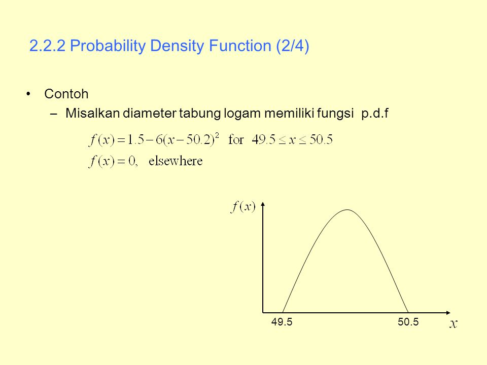 2.2.2 Probability Density Function (2/4)