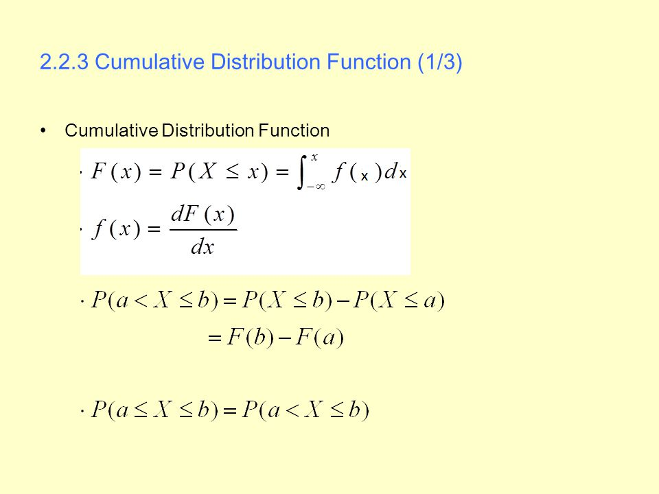 2.2.3 Cumulative Distribution Function (1/3)