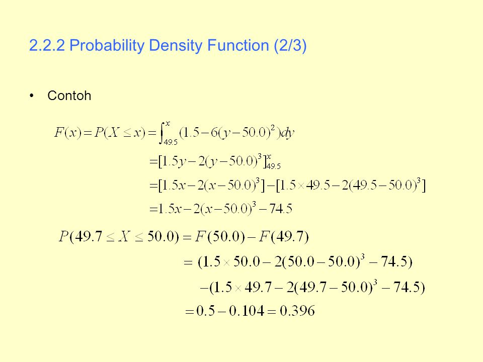 2.2.2 Probability Density Function (2/3)