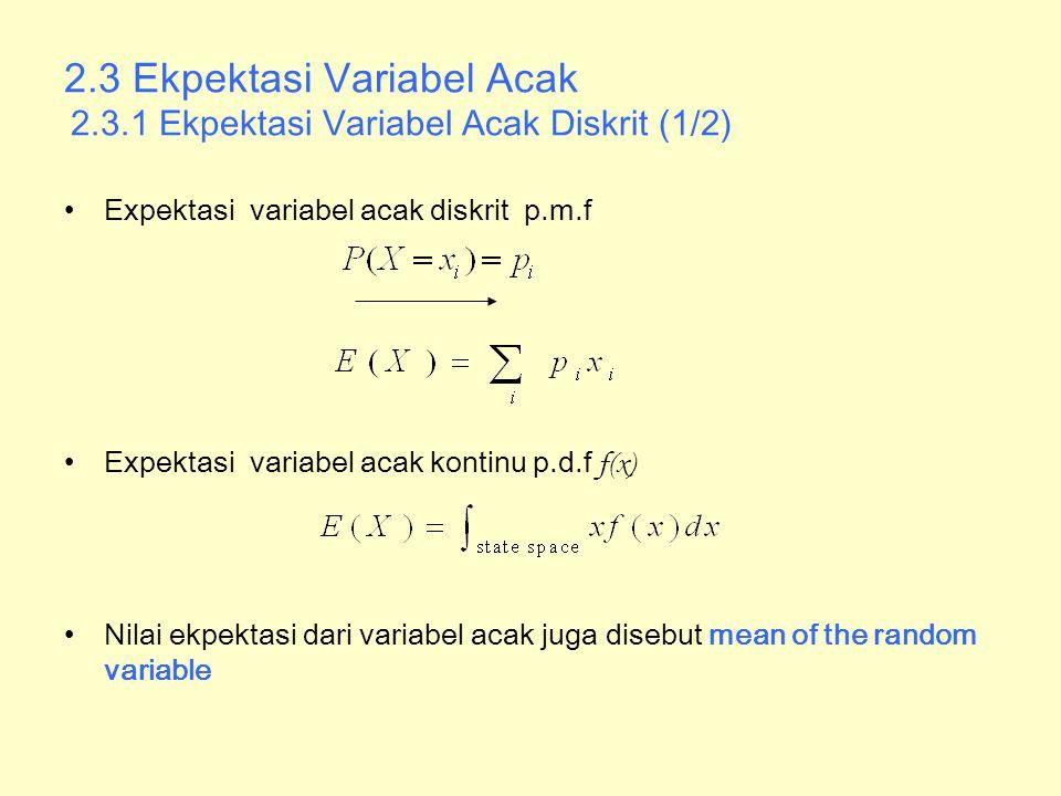 2. 3 Ekpektasi Variabel Acak 2. 3