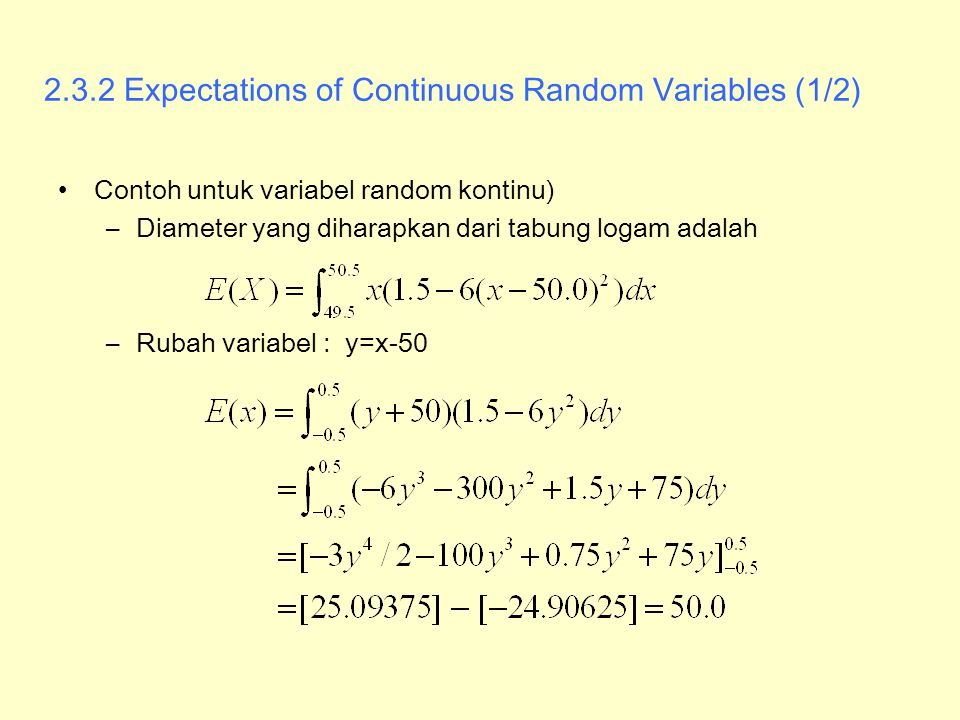 2.3.2 Expectations of Continuous Random Variables (1/2)