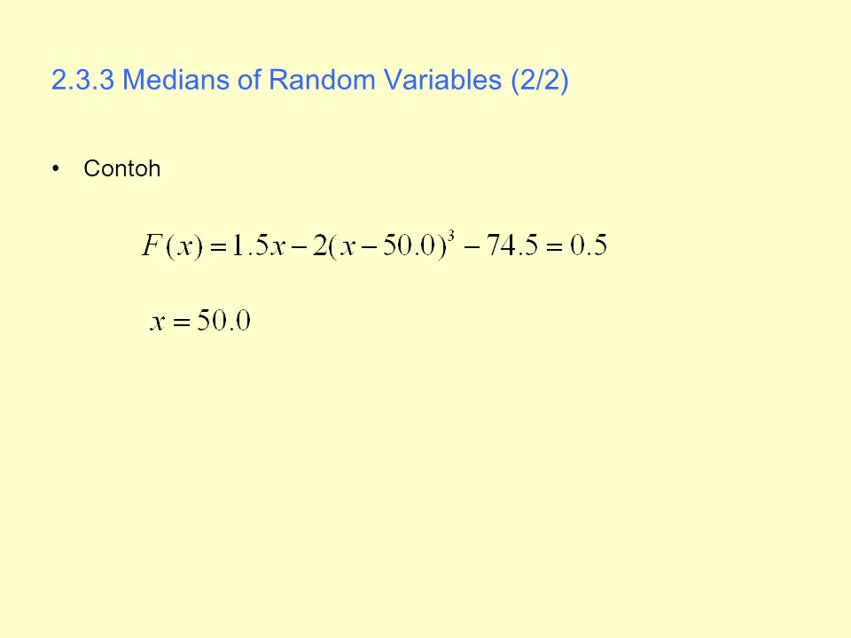 2.3.3 Medians of Random Variables (2/2)