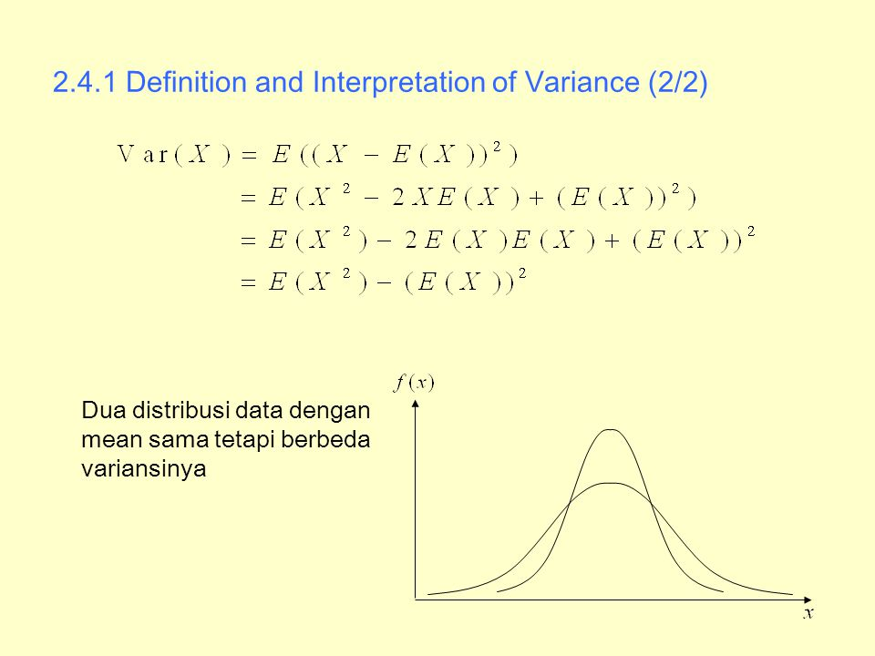 2.4.1 Definition and Interpretation of Variance (2/2)
