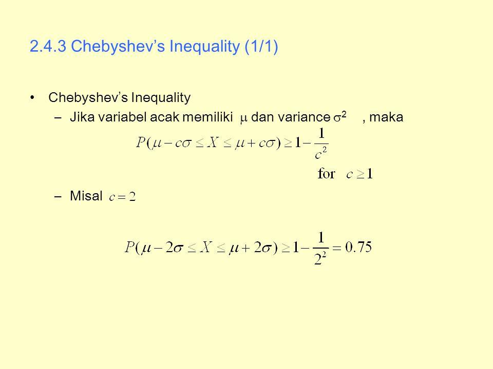 2.4.3 Chebyshev's Inequality (1/1)