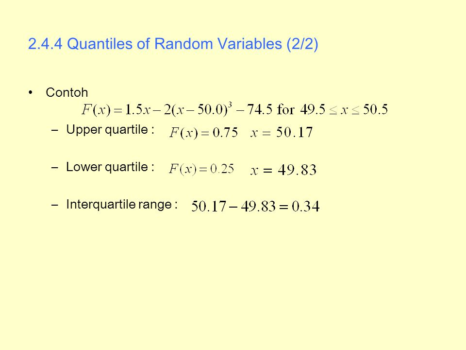 2.4.4 Quantiles of Random Variables (2/2)