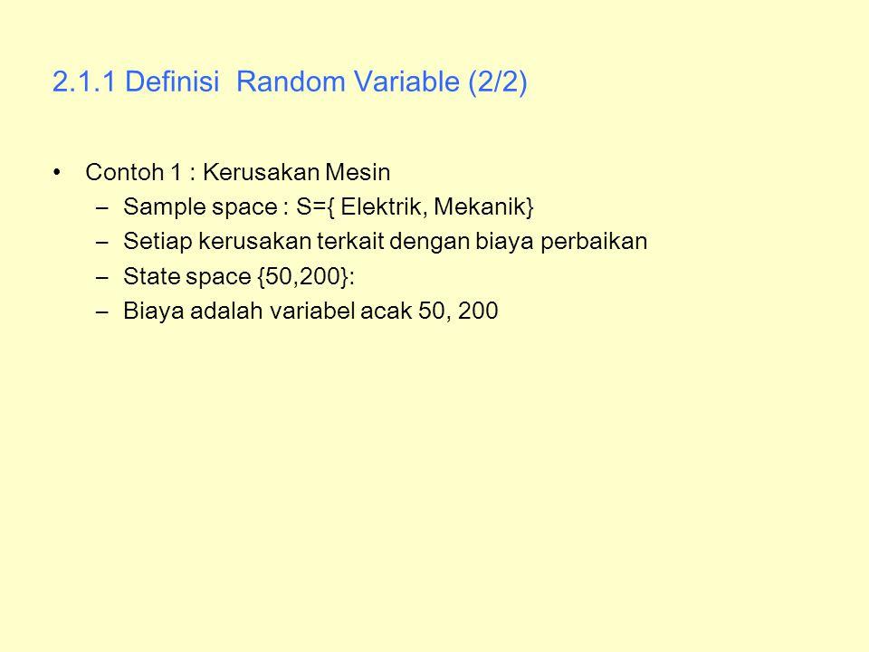 2.1.1 Definisi Random Variable (2/2)