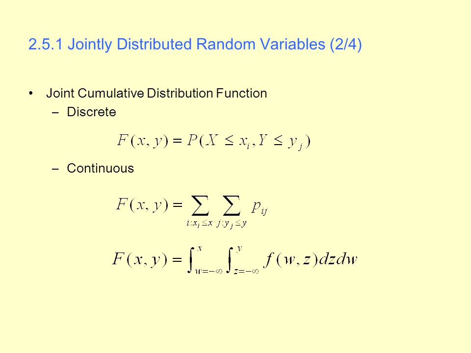 2.5.1 Jointly Distributed Random Variables (2/4)