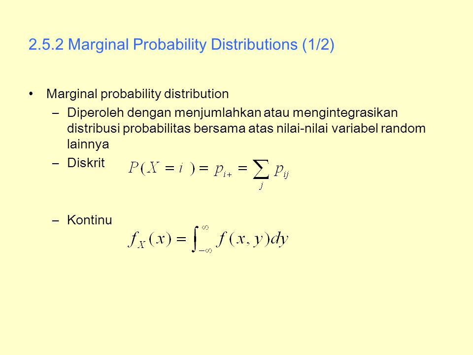 2.5.2 Marginal Probability Distributions (1/2)
