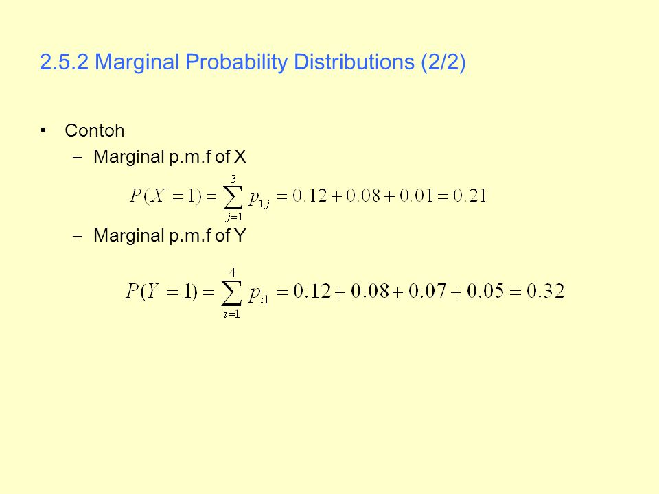 2.5.2 Marginal Probability Distributions (2/2)