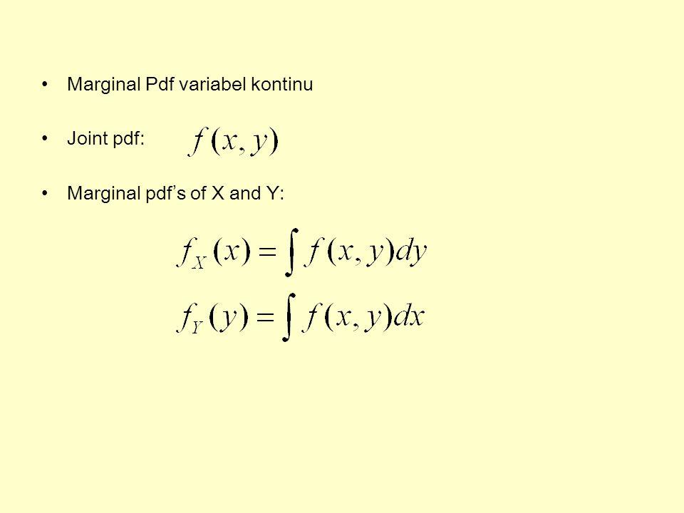 Marginal Pdf variabel kontinu