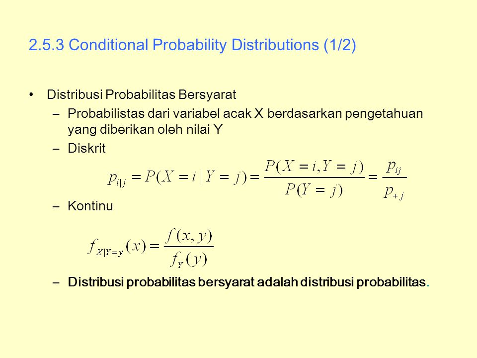2.5.3 Conditional Probability Distributions (1/2)