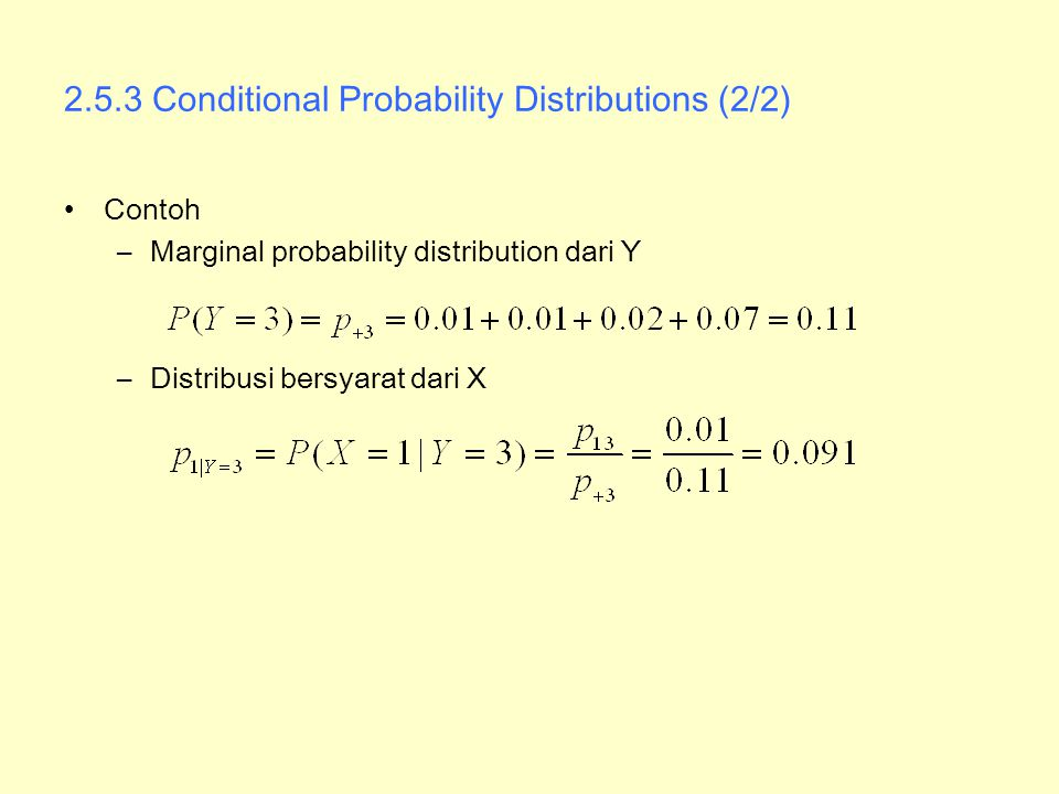 2.5.3 Conditional Probability Distributions (2/2)