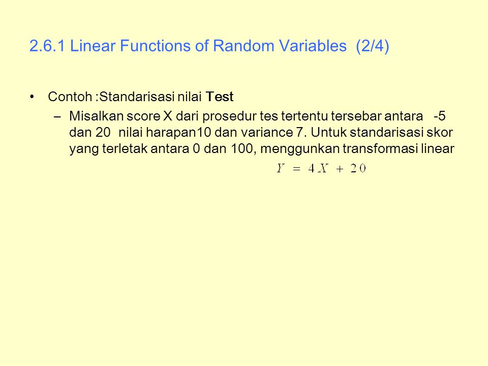 2.6.1 Linear Functions of Random Variables (2/4)