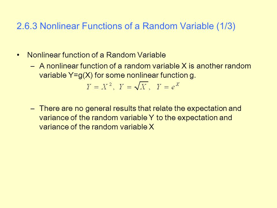 2.6.3 Nonlinear Functions of a Random Variable (1/3)