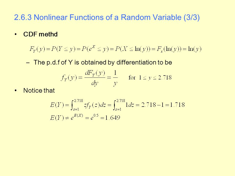 2.6.3 Nonlinear Functions of a Random Variable (3/3)