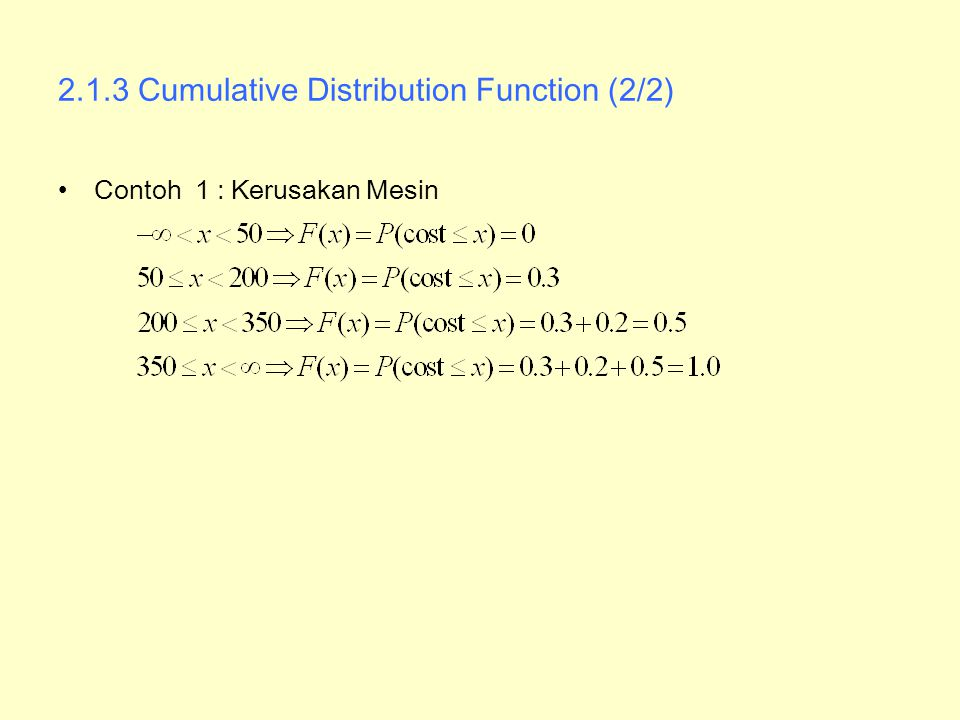 2.1.3 Cumulative Distribution Function (2/2)