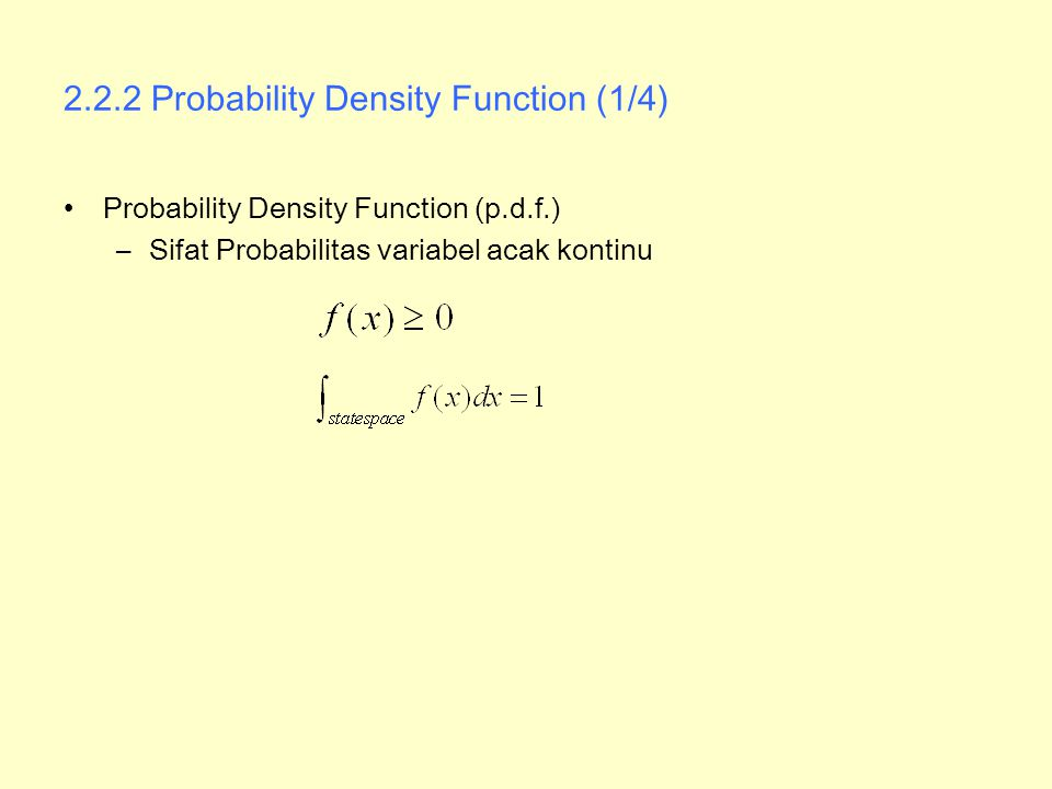 2.2.2 Probability Density Function (1/4)