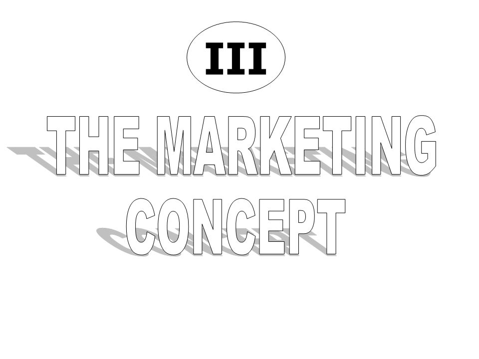 III THE MARKETING CONCEPT