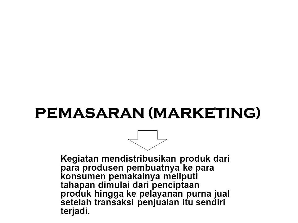 PEMASARAN (MARKETING)