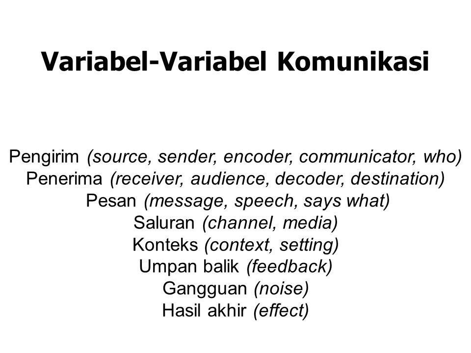 Variabel-Variabel Komunikasi
