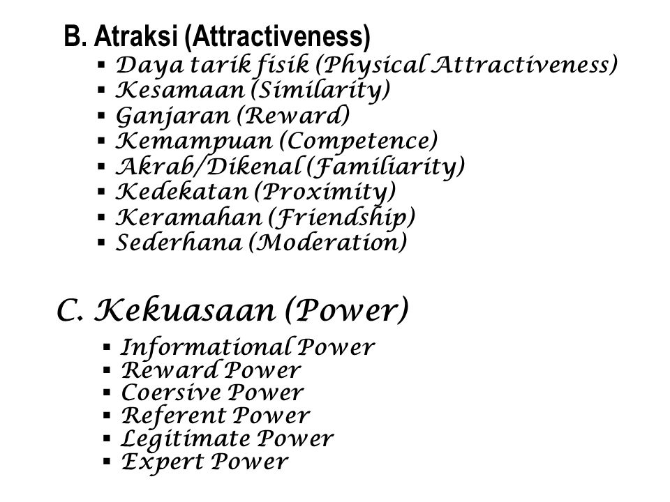 B. Atraksi (Attractiveness)