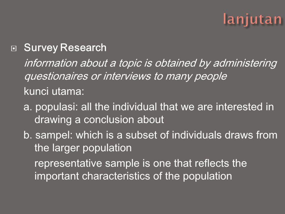 lanjutan Survey Research