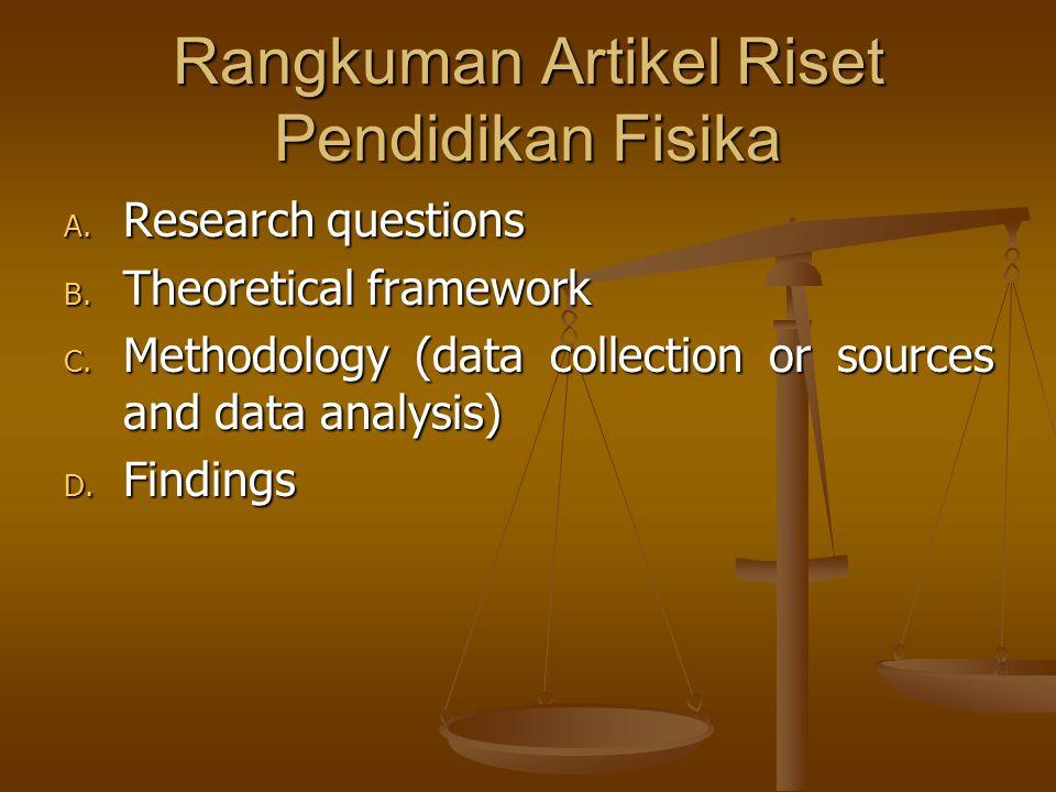 Rangkuman Artikel Riset Pendidikan Fisika