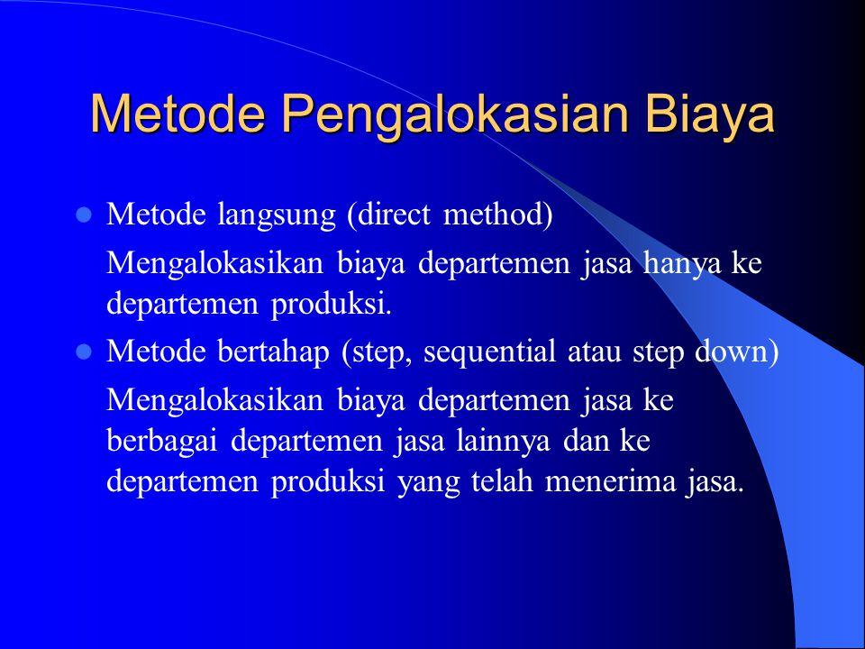 Metode Pengalokasian Biaya