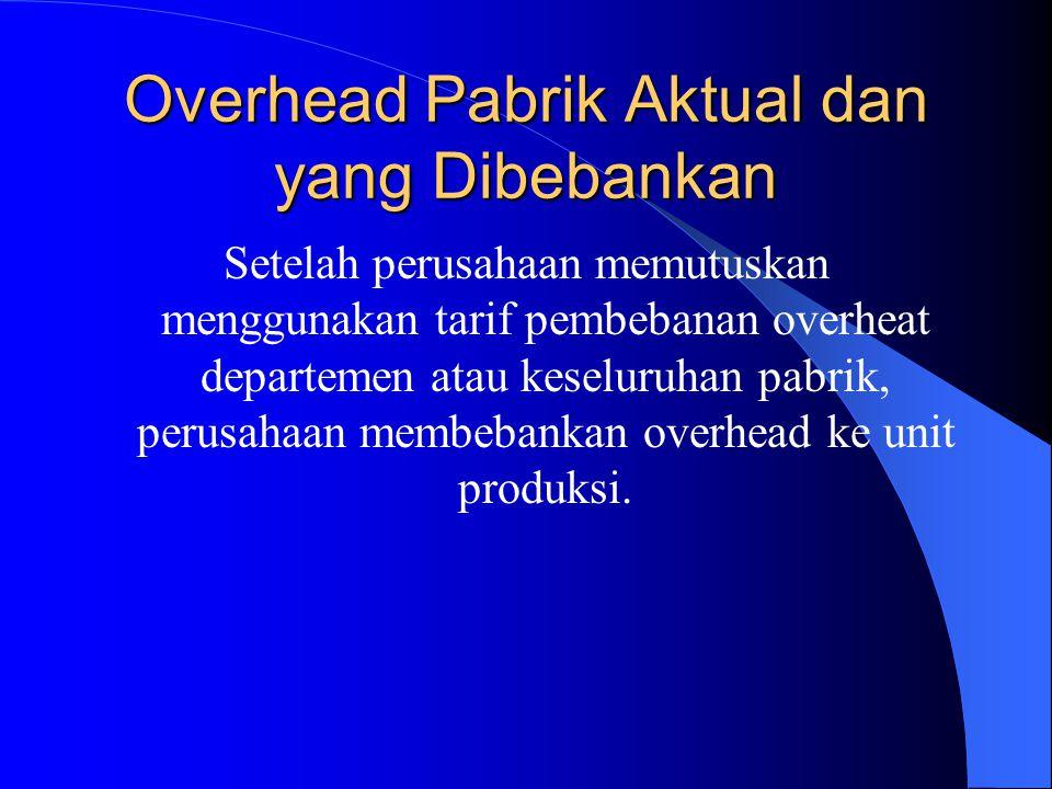 Overhead Pabrik Aktual dan yang Dibebankan