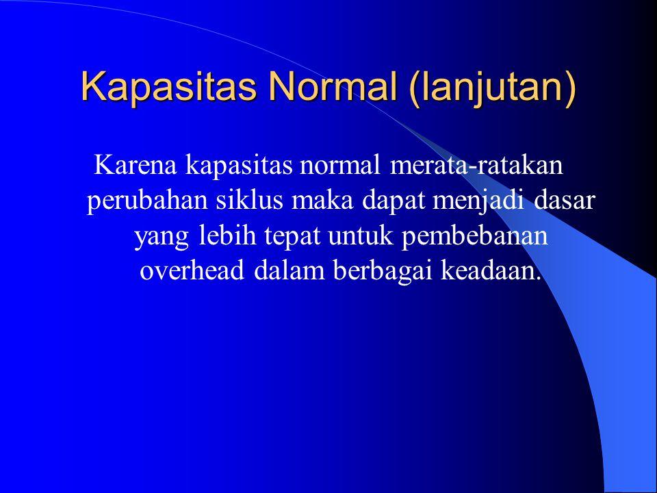 Kapasitas Normal (lanjutan)
